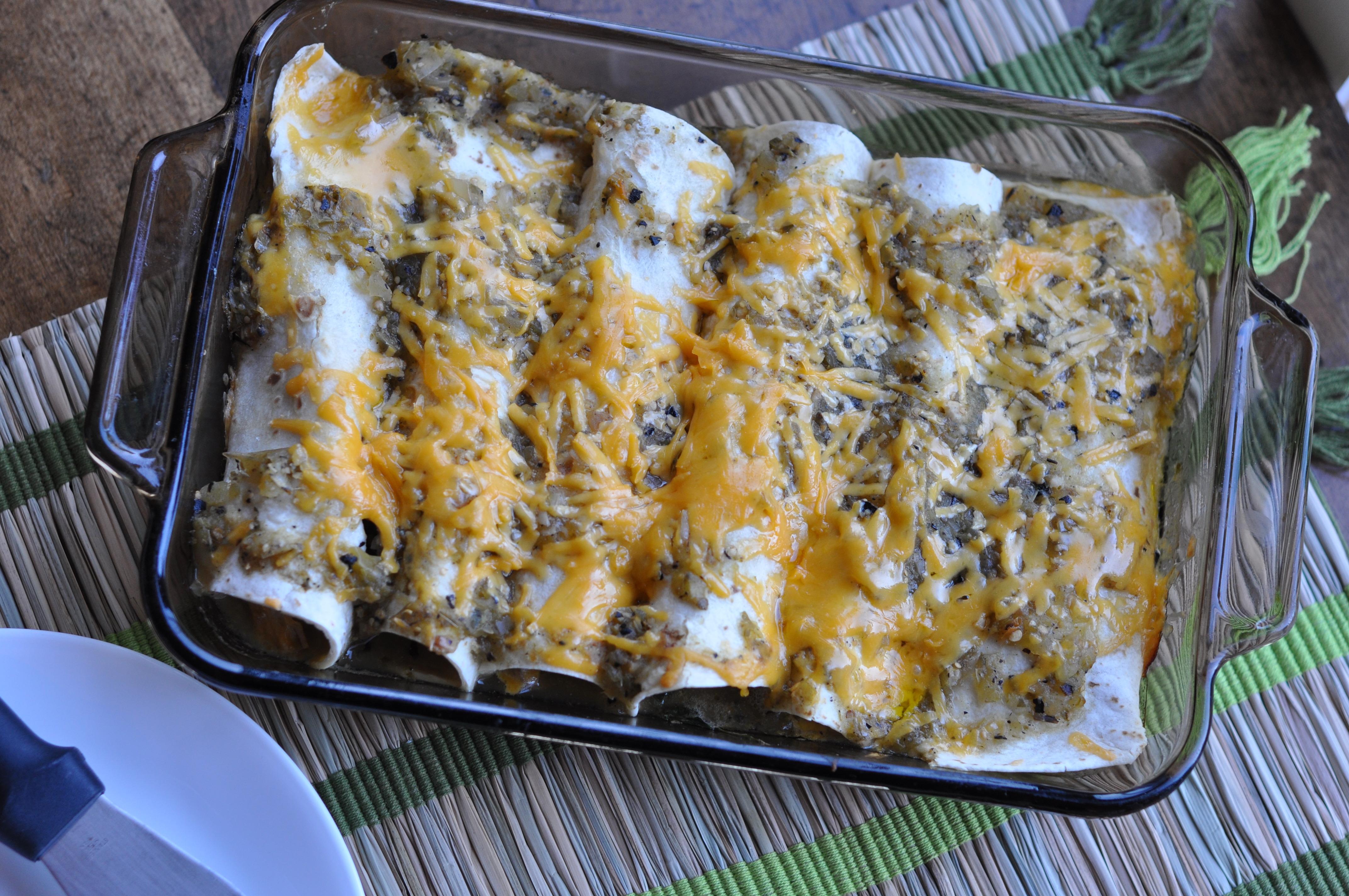 Chicken, Mushroom and Spinach Enchiladas | Just Pinch Me