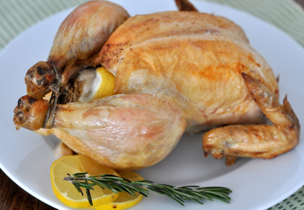 Roasted Chicken with Lemon, Garlic and Rosemary | Just Pinch Me
